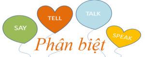 Cách dùng say speak tell và talk trong tiếng Anh